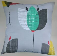 """Cushion Cover in Next Grey Retro Floral 16"""" Matches Curtains Bedding"""
