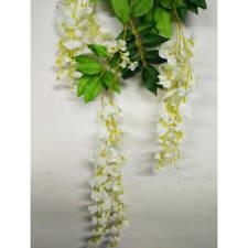 Hanging Artificial Silk Wisteria Fake Garden Flowers Plants Vines Wedding Decor