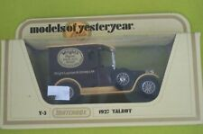 Matchbox. Y-5.Talbot 1927 Wright's Coal tar soap. Boîte
