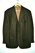 Brioni Mens Brown 3 Button Cashmere and Silk Sport Coat sz 44