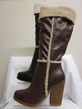 Women's Textile Knee High Block Boots