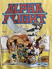 Vintage Alpha Flight marvel comic book Series #1 cover t-shirts size small 1984