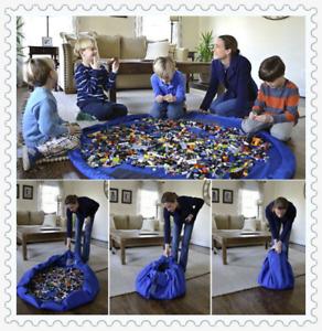 UK Kids Portable Toy Storage Bag Organiser Play Mat Rug Drawstring Tidy Home