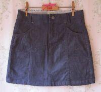 Rare! *New* MANTARAY Dark Denim Blue Stretch Cotton Cord Velvet Mini Skirt 12 M