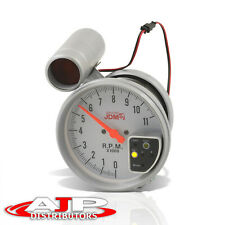 5 White Face Tachometer 11k Rpm Tach Gauge With Red Shift Light For Supra Celica