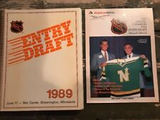 Rare 1989 Entry Draft Book Supplement NHL Vintage Hockey Memorabilia