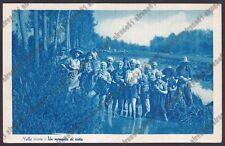 MONDINE 302 MONDARISO RISO RISAIA LAVORI AGRICOLI MESTIERI Cartolina viagg. 1946