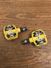 SPD Mountain Bike Pedals Dual Sided Clipless Yellow