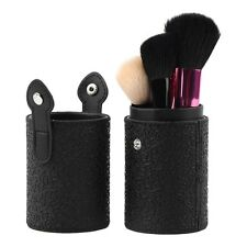 Black Makeup Cosmetic Brushes Pen Holder Storage PU Leather Container Box GT