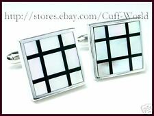 Onyx & Mother of Pearl Cuff Links cufflinks #C-70