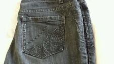 Tahari Jeans, embellished jeans patch jeans lace jeans Elle Tahariretail $200.00