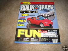 Road & Track magazine Aug 2005 Audi A4 Volvo S40 2006 BMW 330i road test