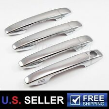 2009-2014 Toyota Venza 4 Drs Chrome Plated Door Handle Covers Trim With Smartkey
