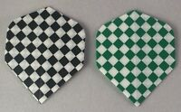 Darts Flights Standard Std Chequered Colour Black Green 75 Micron Free P&P