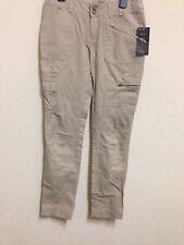 MANGO Taille UK XS S Xtra Petit/Small Slim Beige Kaki Pantalon Cargo Pantalon