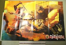 NINJAK # 1 VARIANT ACCLAIM COMICS PAINTED PROMOTIONAL POSTER VALIANT 1996 V2 WOW