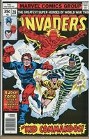 Invaders 1975 series # 28 very fine comic book