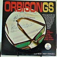 Roy Orbison ‎– Orbisongs - 1965 Monument ‎#MLP-8035 MONO Rock Vinyl LP-VG/VG+