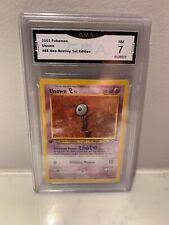 Unown L Pokemon Card Graded 7 Neo 1st Edition