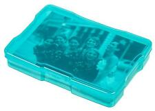 "IRIS 4x6"" Photo Embellishment Craft Box Case Teal Blue Plastic Storage Bin"