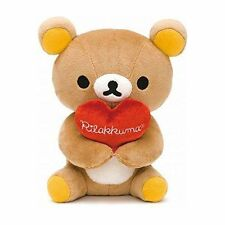 "San-X Co., Ltd Rilakkuma Holding Heart Little Bear Plush 6.5"" AL-9186"
