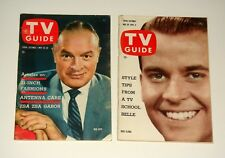 Lot of 2 1959 TV Guide NO MAILING LABEL Bob Hope & Dick Clark FREE SHIPPING
