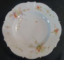 Set of 4 Hermann Ohme Germany Peach Wild Roses Deep Plates Circa 1920 - 1930