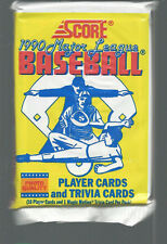 Vintage 1990 Score MLB Unopened Trading Cards Baseball Pack Of 16 Trivia Card