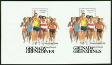 Grenada Grenadines 1986 Olympics Marathon SS proof PAIR