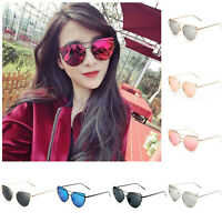 Fashion Women Men Vintage Glasses Metal Cat Eye Oversized Sunglasses Eyewear