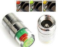 Set Of 4 Car Tire Air Pressure Monitor Valve Stem Cap Sensor Indicator Eye Alert