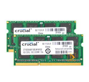Crucial 8GB 16GB 2Rx8 PC3L-12800S SODIMM RAM Speicher Intel DDR3L 1600 MHz 1.35V