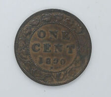 1890 Canadian coin One cents EF-40 condition