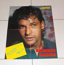 Poster doppio ROBERTO BAGGIO - TOTO' SCHILLACI Gli amici del Corrierino JUVENTUS