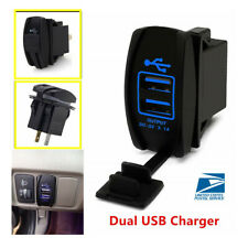 1PCS 5V Dual USB Charger Black Plastic & Rubber Not Easy To Distort Dustproof