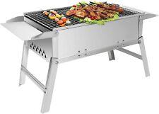 Barbecue charbon de bois pliable en inox BBQ de table gril camping vacance