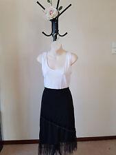 ✿♡ Womens Skirt Size M (Black Beaded Tutu Ruffle Wrap Gypsy) ♡✿