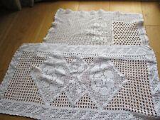 Job Lot of 20 Vintage Doilies Chair Back Crochet Damaged Crafts Rework (Ref#9)