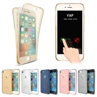 Mobile Phone Case 360° Silicone Cover Front + Rear Full TPU Bumper Case