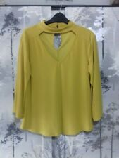 BNWOT Yellow Blouse With Sleeve Detail 10