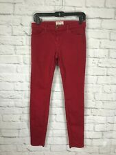 CURRENT ELLIOTT Red Skinny Jeans Size 28