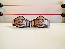 Custom Made NWA World Tag Title Belts For WWE Mattel Basic Elite Figures