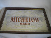 VINTAGE 1970s Anheuser-Busch Inc Michelob Beer Since 1896 Framed Mirror 302-204