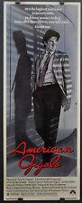 AMERICAN GIGOLO 1980 ORIGINAL MOVIE POSTER 14X36 RICHARD GERE LAUREN HUTTON