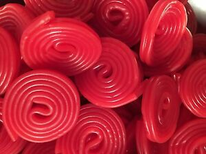 RED LIQUORICE WHEELS - ORIGINAL AND BEST TRADITIONAL SWEETS