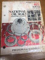 1979 NATIONAL OIL SEALS Master APPLICATION CATALOG / MANUAL 458PG CATALOG 401