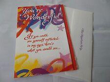 "Beautiful ""You're Wonderful"" Greetings Card. FreeP&P"
