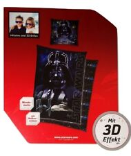 Star Wars Wende Bettwäsche Set 135x200cm Darth Vader mit 3D Effekt+2x 3D Brille