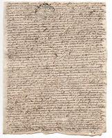 1753 4p manuscript document involving Louis XV Marques de Castelneau DAMAGED