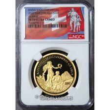 Switzerland 2017 Shooting Thaler 500 Swiss Francs Glarus Gold NGC PF70 PR70 UC